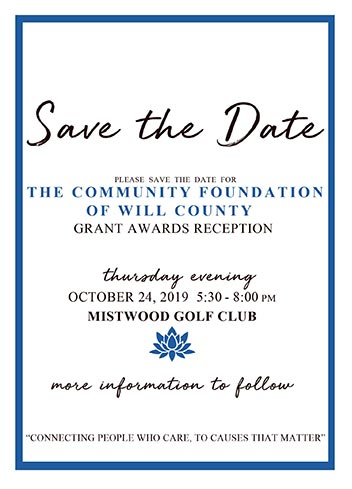 Save the Date Community Foundation of Will County Grant Awards