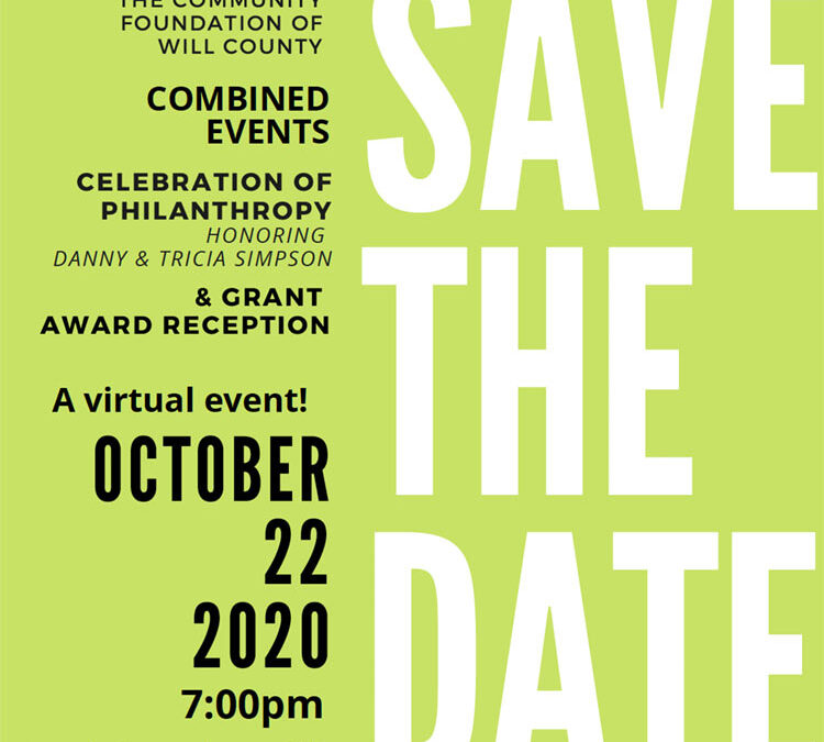 SAVE THE DATE – ANNUAL CELEBRATION OF PHILANTHROPY & GRANT AWARD RECEPTION