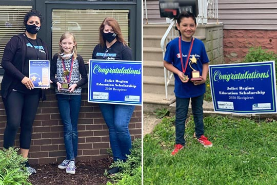 Winners from Eisenhower and Singleton Schools