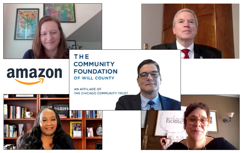 Will County Community Foundation and Amazon News Release participants